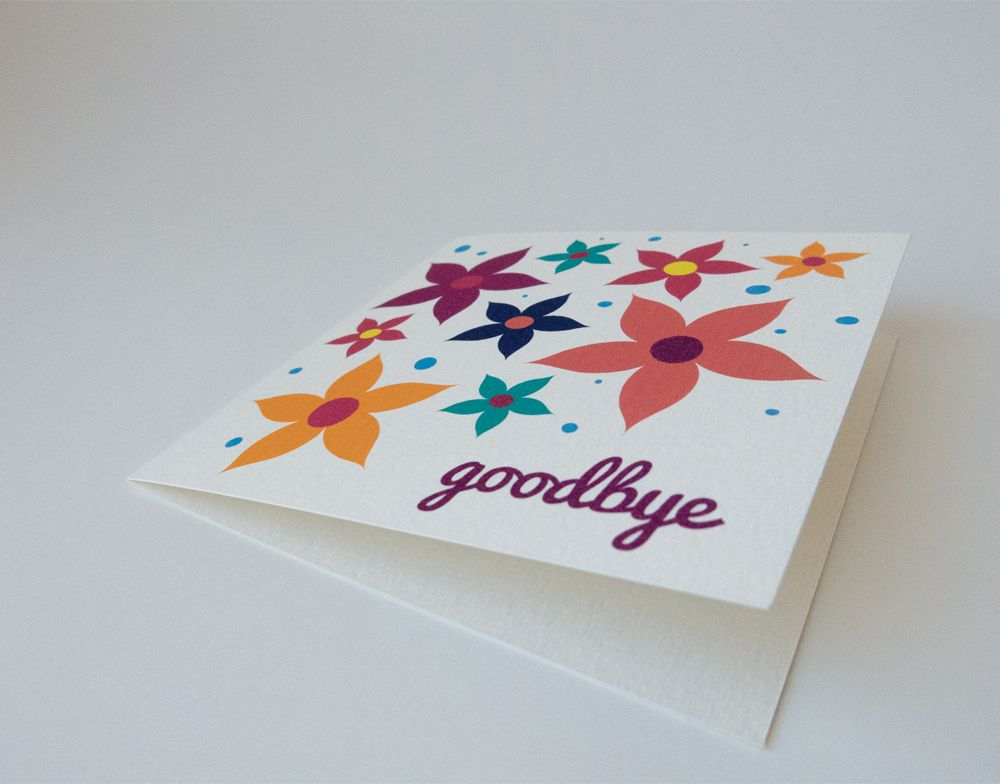 flower goodbye card  cards how to make an envelope flowers