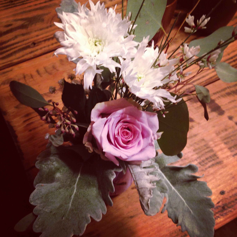 Dusty miller & Roses