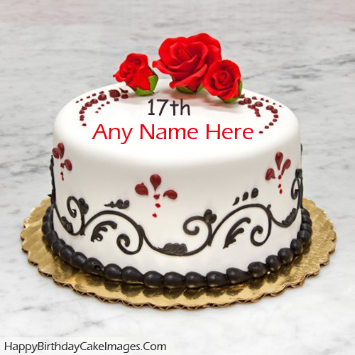 Free 17th Birthday Cake With Name Edit For Facebook Easy Way To Write A On Image Your Friend And Share It Twitter