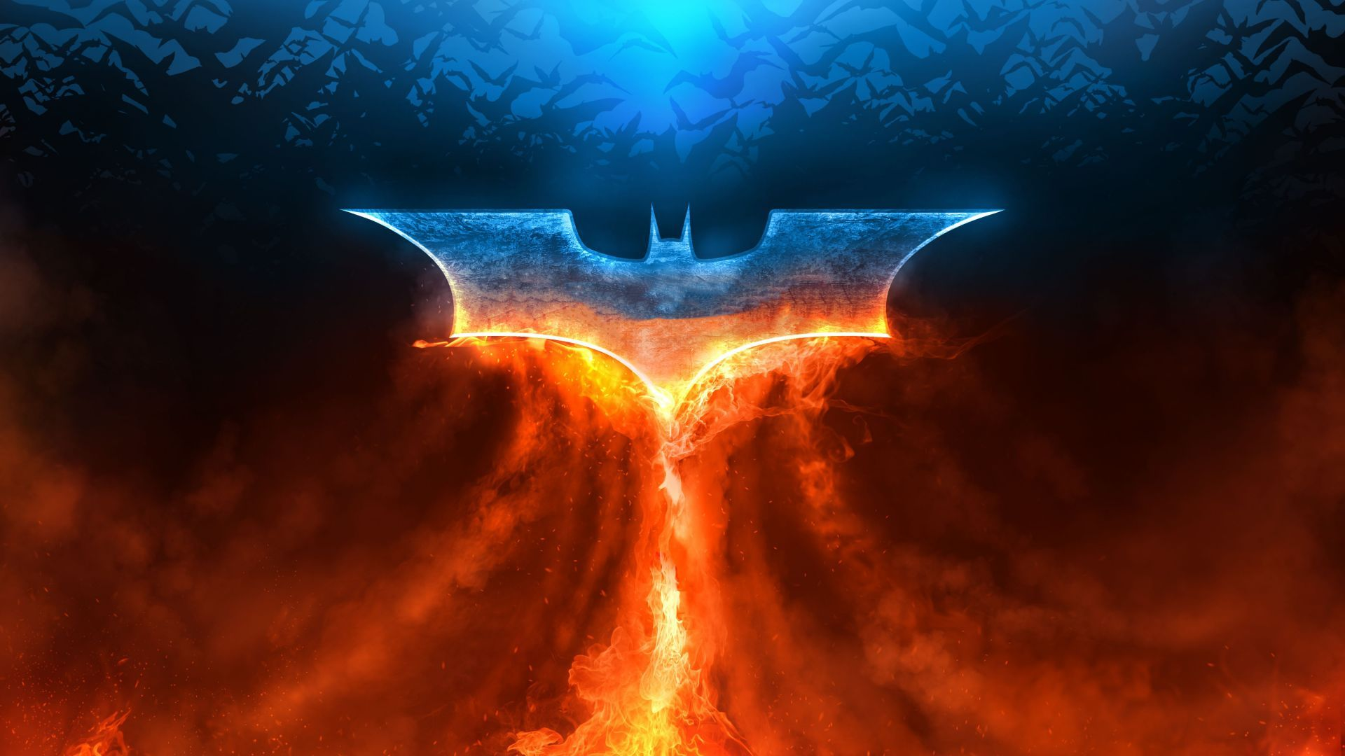 Batman Logo Fire Hd 5k In 2020 Batman Wallpaper Logo Wallpaper Hd Creative Graphics