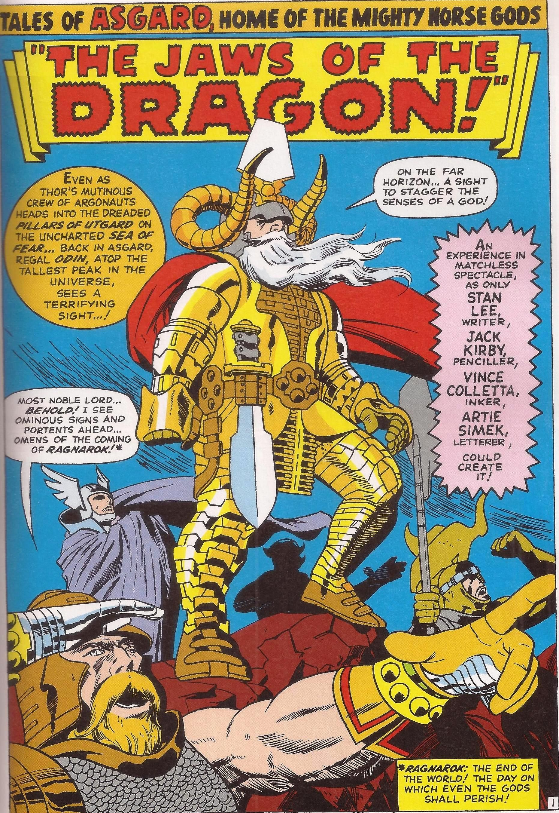 Super I love this regal uniform designed by Jack Kirby. This Odin is a OK68