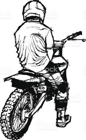 Back Of A Dirt Bike Racer Tattoo Bike Desenhos De Motocross Tatuagens De Moto