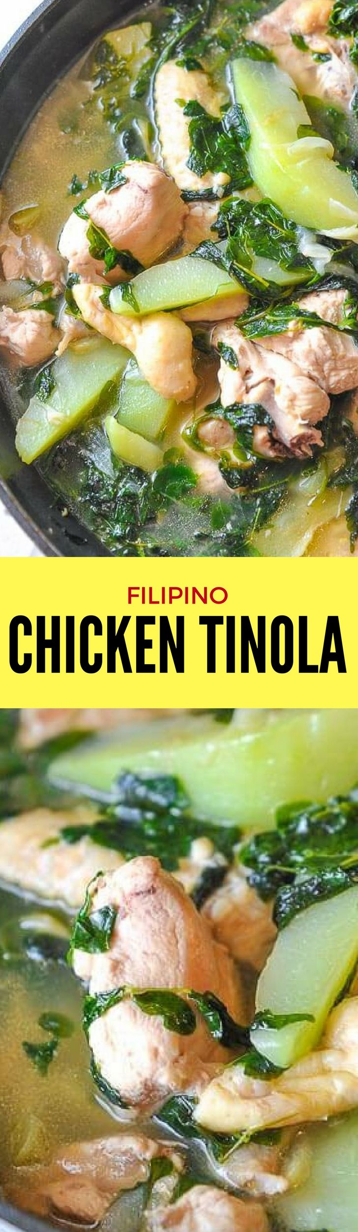 Asiatische Moringa Filipino Chicken Tinola Is A Type Of Chicken Soup In A Clear Broth