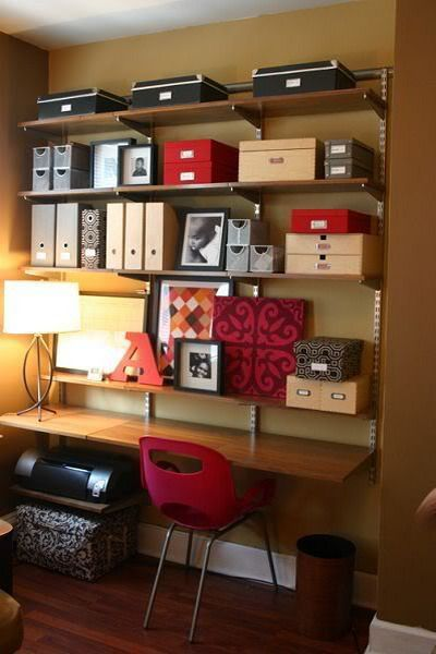51 Cool Storage Idea For A Home Office | Shelterness