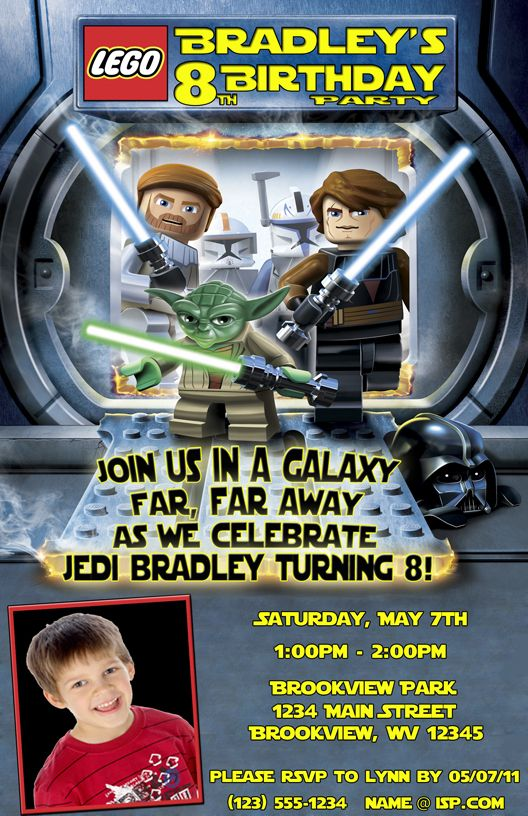 17 Best images about Lego Star Wars Birthday Party – Lego Star Wars Birthday Invitations