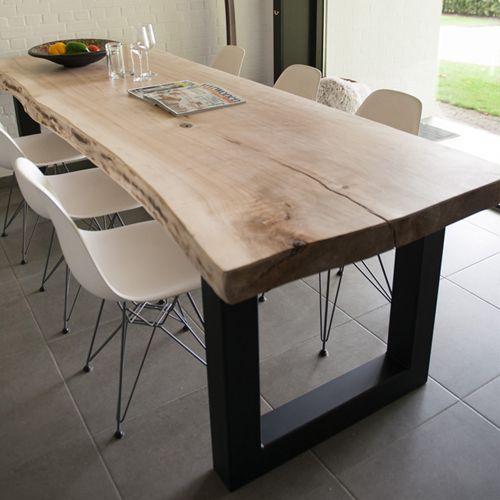 Table Bois Pied Blanc: 220cm Is 20 Cm Meer Dan Die We Nu Hebben En Kan Net 4 P