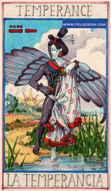 XIV. Temperance: Aztec Tarot, By Felix D'Eon