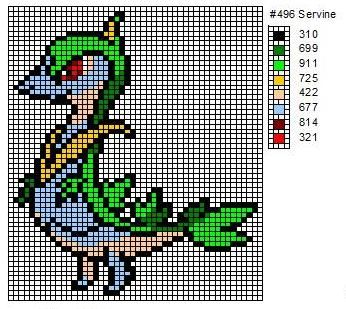 496 Servine by cdbvulpix.deviantart.com on @deviantART ... - Pixel Pokemon Legendaire