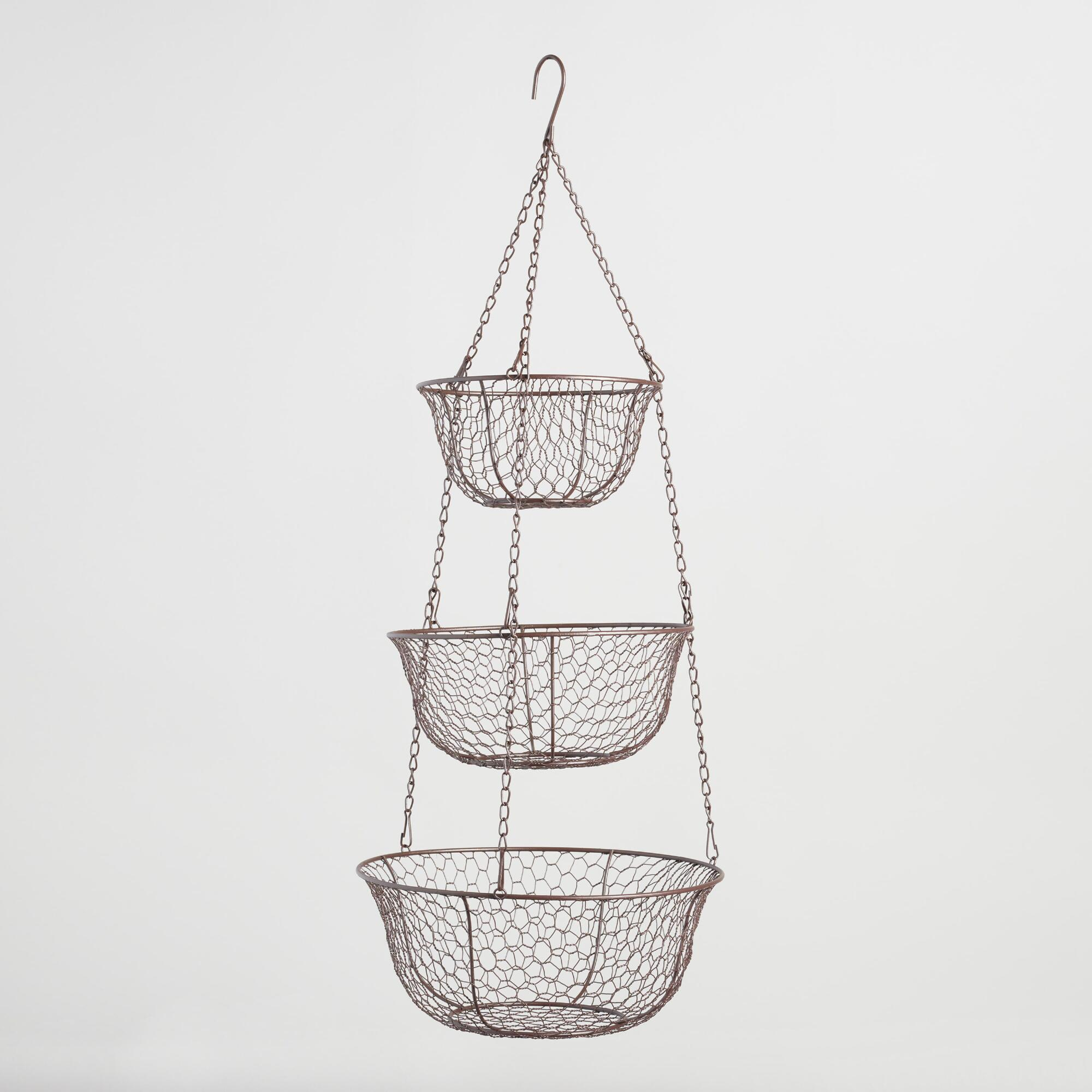 Uncategorized Hanging Wire Vegetable Basket wire three tier hanging basket world chicken and the ojays basket