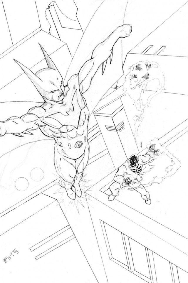 Batman Beyond Coloring Pages Download Free Printable Coloring