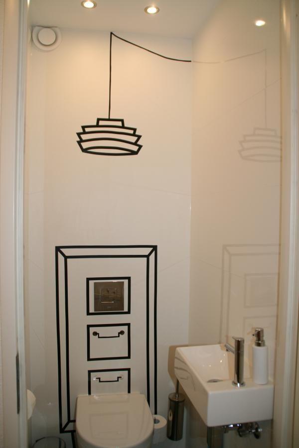 wc creatie kast met lamp
