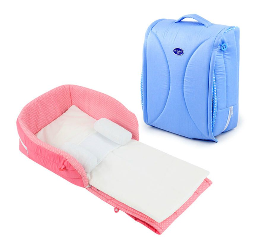 Baby Infant Portable Crib Cot Travel Close Secure Foldable Sleeper ...