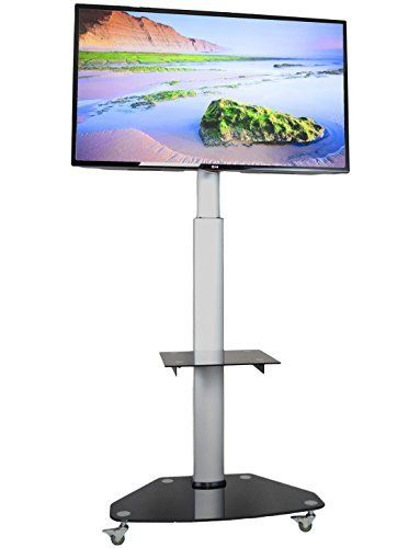 Vivo Tv Cart For Lcd Led Plasma Flat Panels Stand With Wheels Mobile