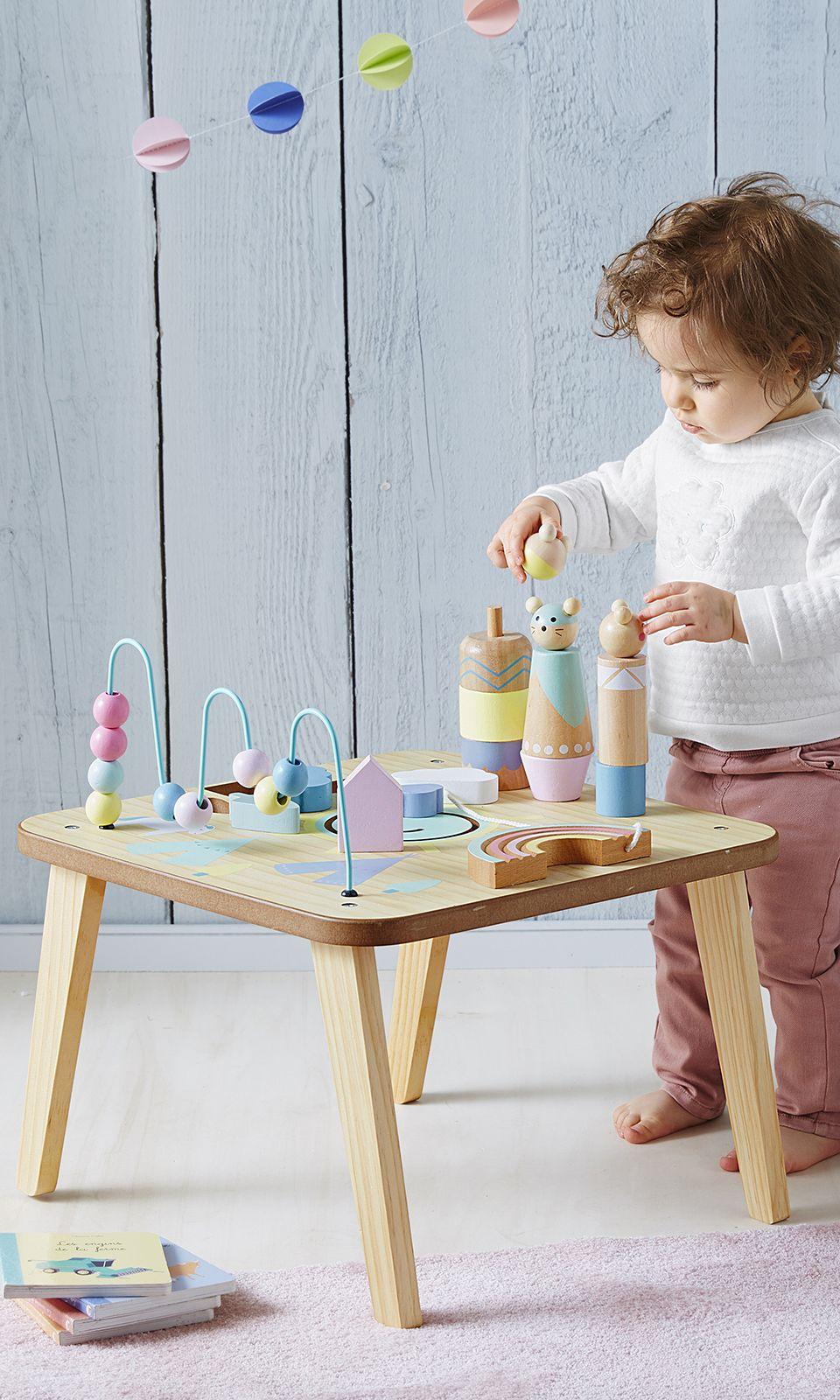 Table D Activites Petits Sioux Bleu Vertbaudet Table D Activite Jeux Amusants Jouet Eveil