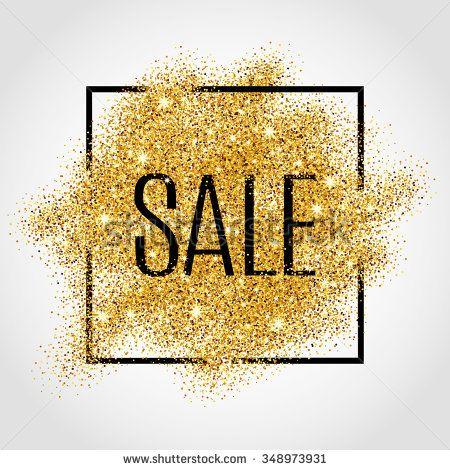 Gold Sale Background In Frame Gold Sale Background For Flyer