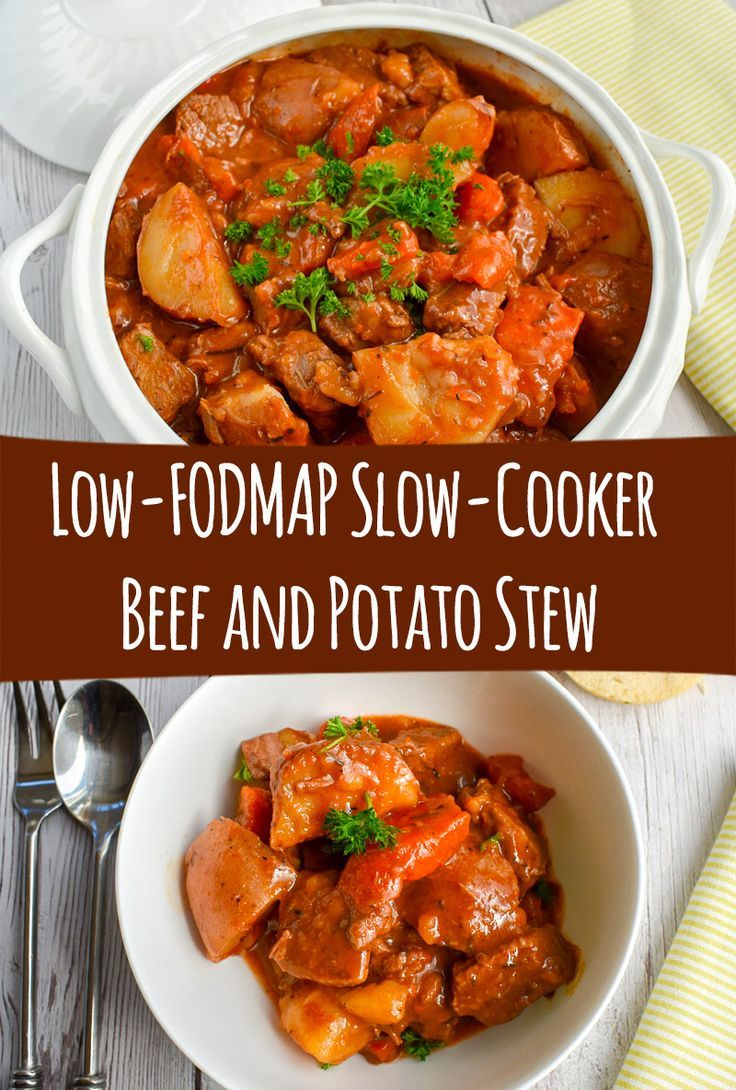 Low-FODMAP Slow-Cooker Beef and Potato Stew; Gluten-free images
