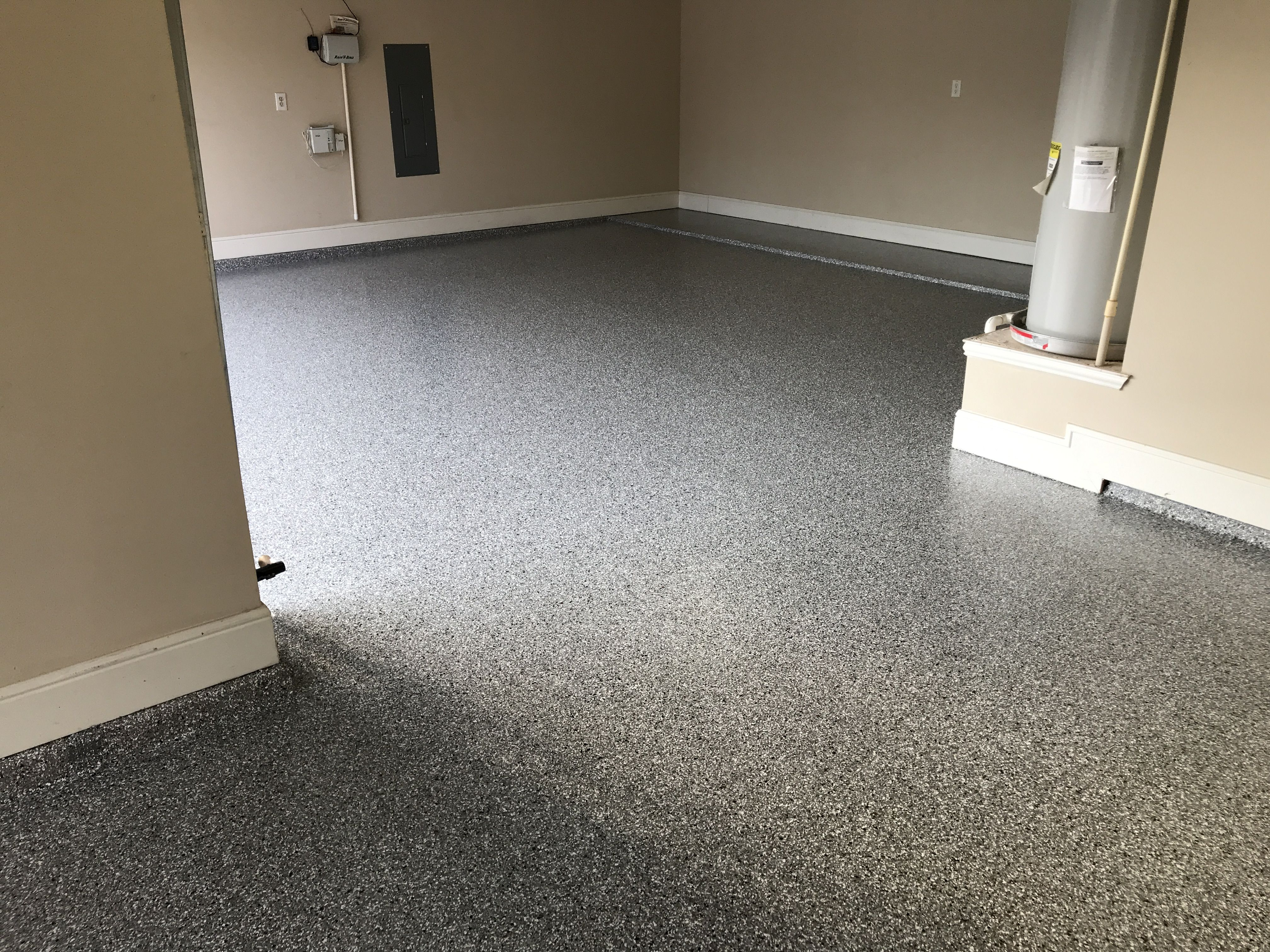 Granite, Silver Spring polyaspartic epoxy garage floor
