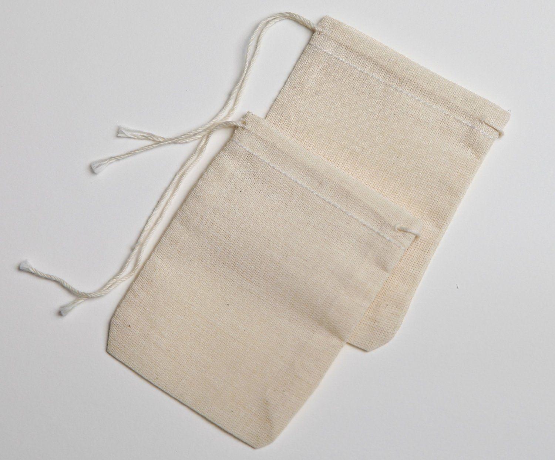 Cute favor bags herb mixes or loose tea amazon cotton muslin