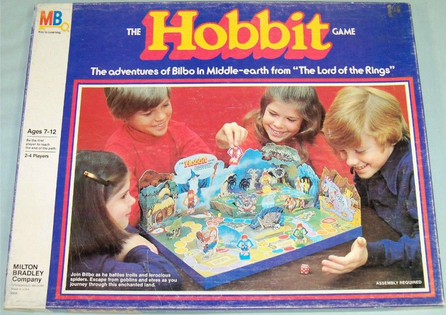 80 S Milton Bradley Toys : Milton bradley the hobbit game vintage games