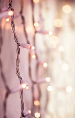 Fairy Lights Pink Aesthetic Pink Christmas Pretty In Pink