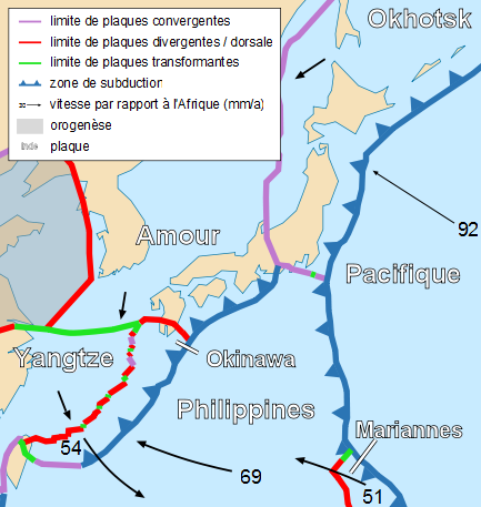 Tectonic map of Japan. | Plate tectonics, Geology, Earth science