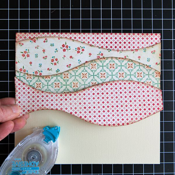 My Creative Scrapbook How To Make Layered Patterned Paper Waves By