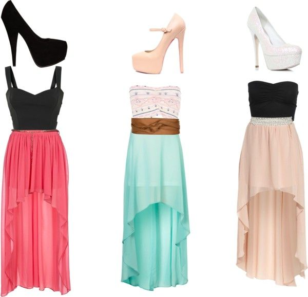 """high low skirts and amazing! shoes i love with all of these:)"" by alexdrew on Polyvore"