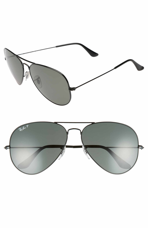 21dc1cf3fb Main Image - Ray-Ban Original 62mm Polarized Aviator Sunglasses ...
