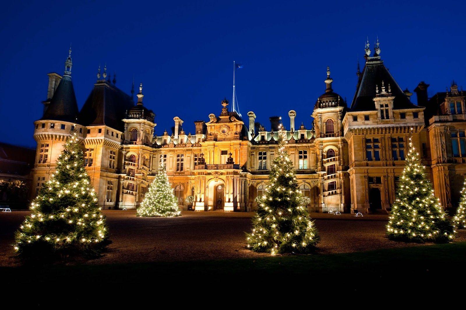 Waddesdon Manor At Christmas Weekend House Manor Christmas Tree Light Up