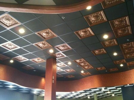 Faux Copper Drop Ceiling Tiles Elk Grove California Faux Tin Ceiling Dropped Ceiling Drop Ceiling Tiles