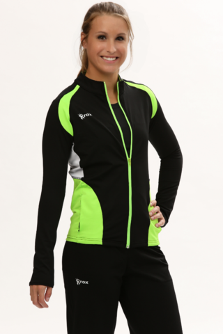 Neon Lime Green Women's Warmup Volleyball Jacket