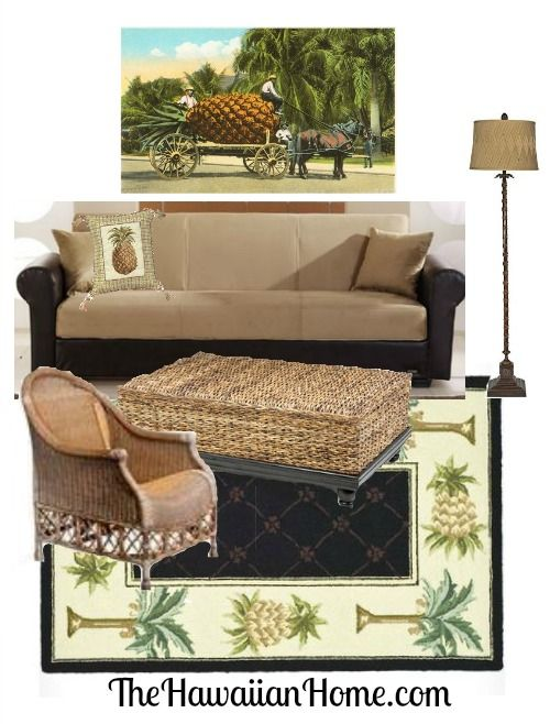 Hawaiian Style Living Room Design Pictures Pineapples