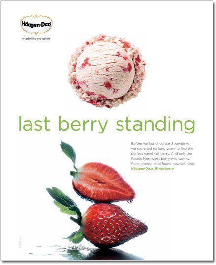 Last Berry Standing Haagan Dazs Print Ad