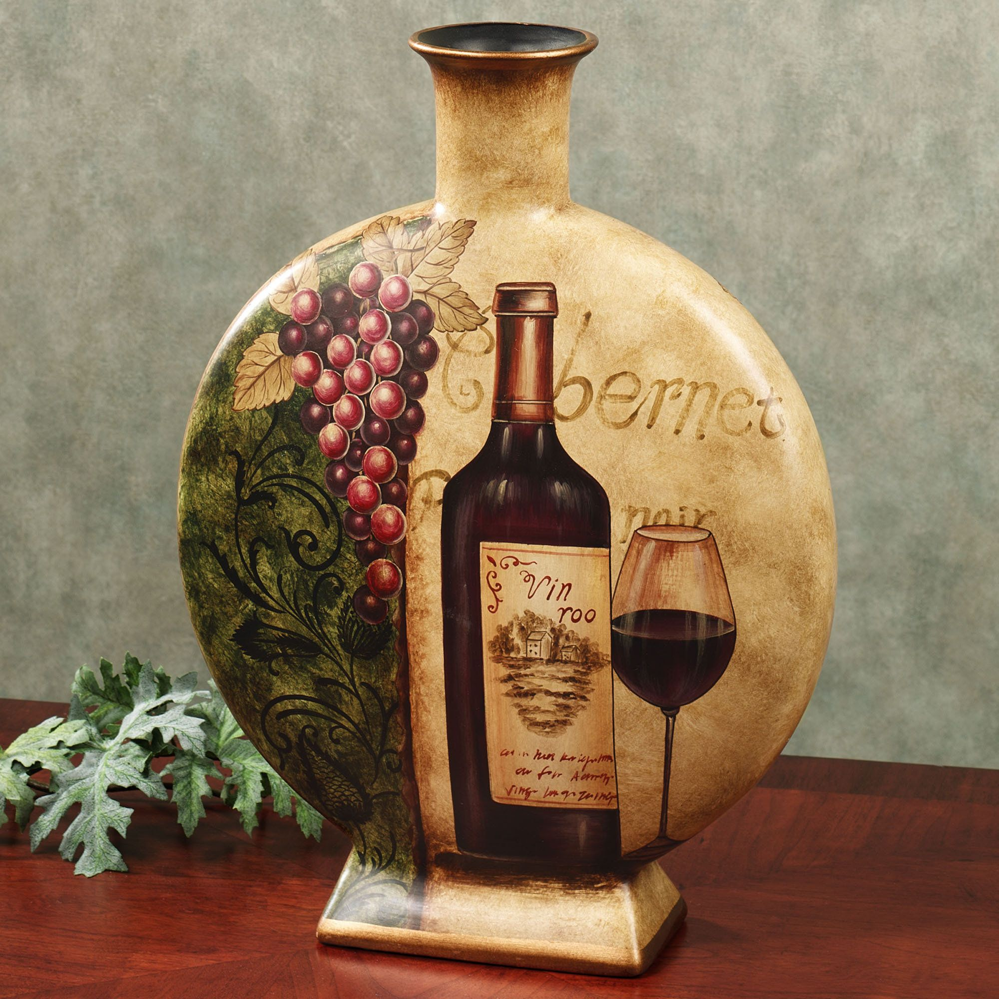 Wine Themed Home Decor: Vin De Calabre Table Vase Sand