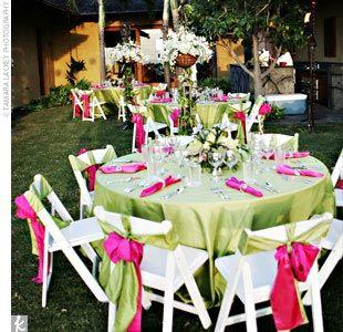 Colour Combinations | Limes, Reception and Centerpieces