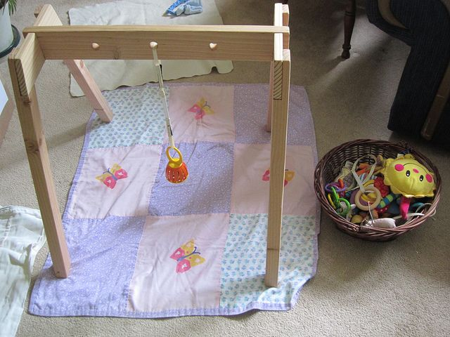 diy baby gym montessori style finally a tutorial to build one ourselves cost 10 toys. Black Bedroom Furniture Sets. Home Design Ideas
