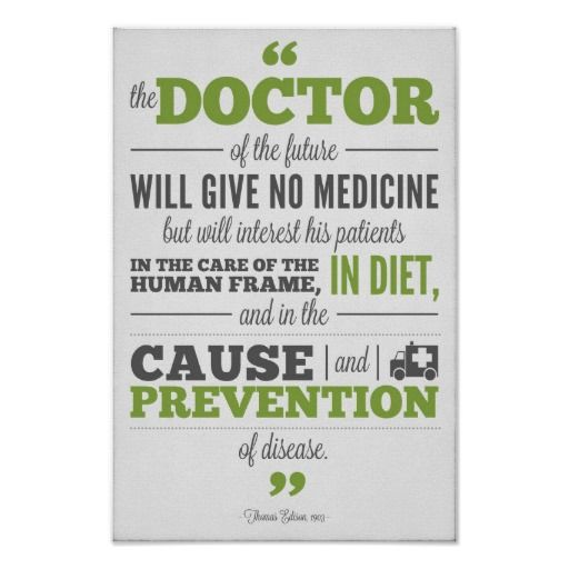 Chiropractic Poster Edison Doctor Of The Future Quotes