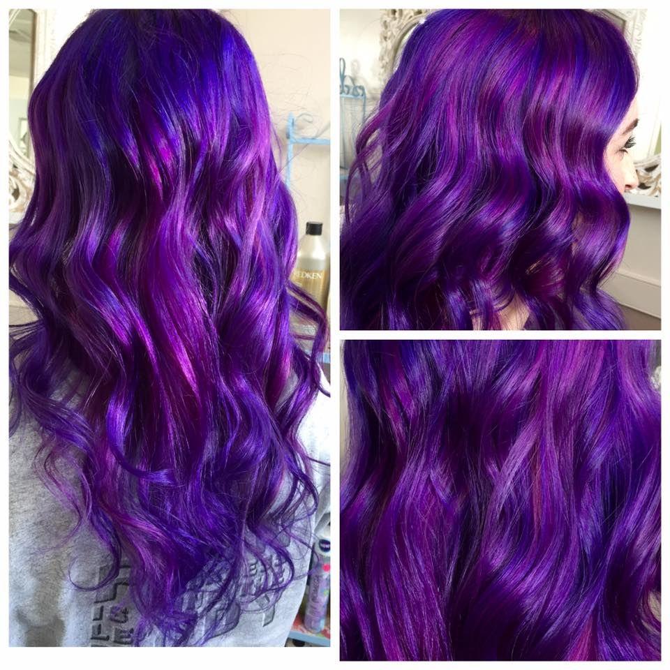Purple Orchid Plum Metallic Lavendar And Iridescent Violet