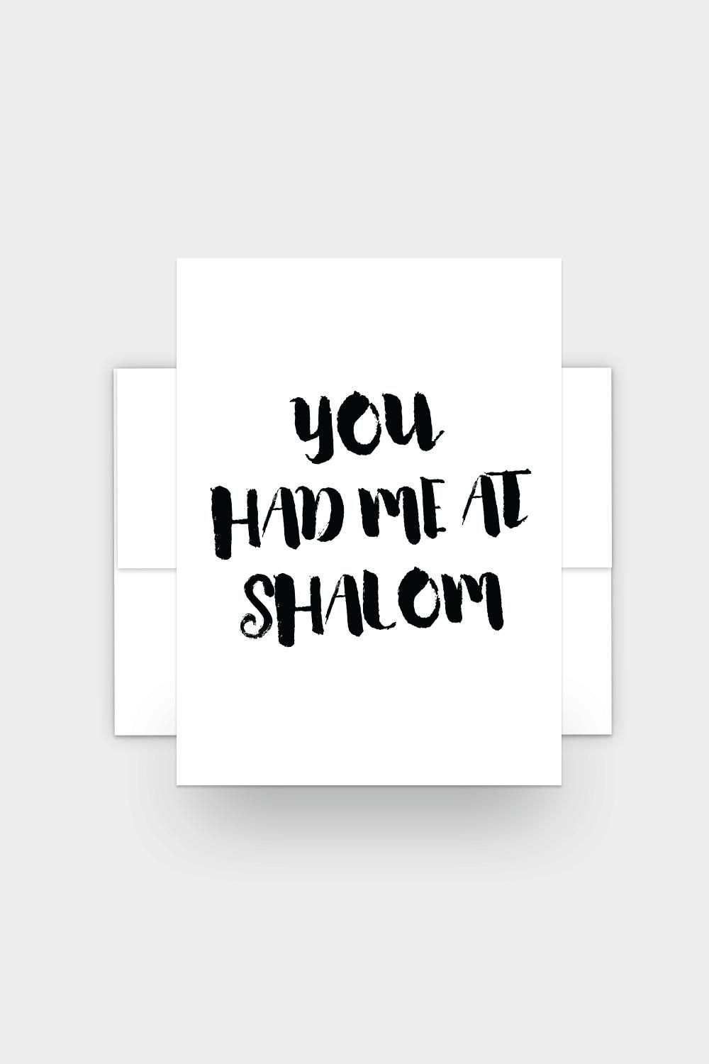 You had me at shalom funny jewish greeting card m4hsunfo