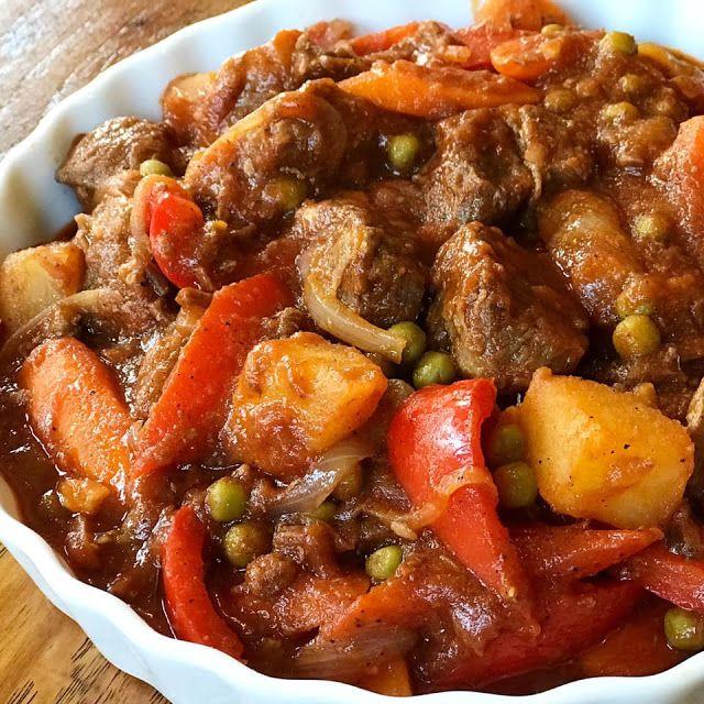 Beef Kaldereta | Filipino beef stew, Kaldereta recipe ...
