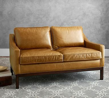 Dale Leather Loveseat Potterybarn