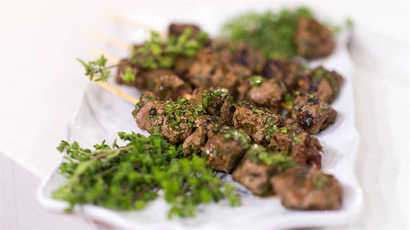 Al's Grilled Chimichurri Beef Skewers - TODAY.com