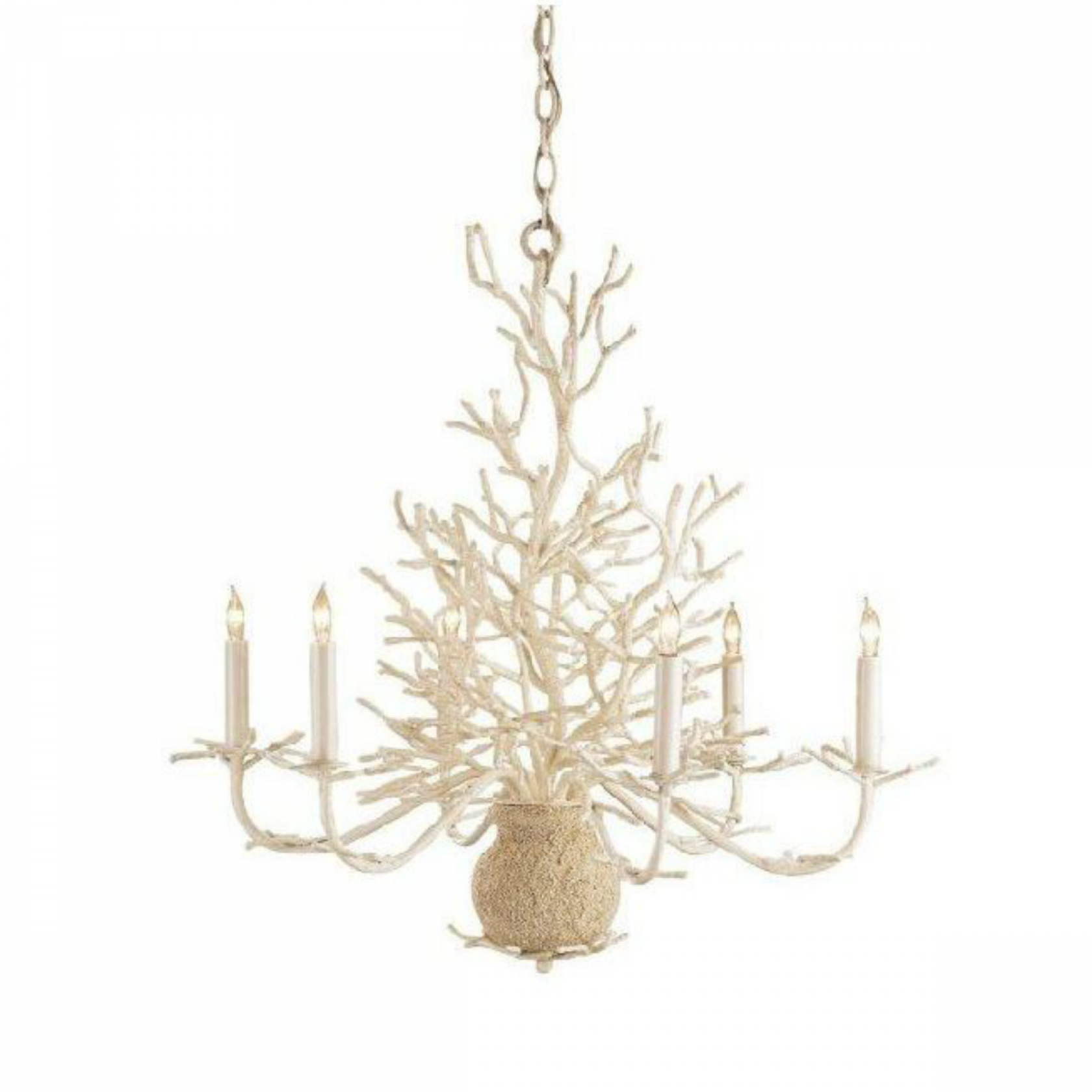 White coral chandelier natural sand finish on wrought iron bay white coral chandelier natural sand finish on wrought iron arubaitofo Images