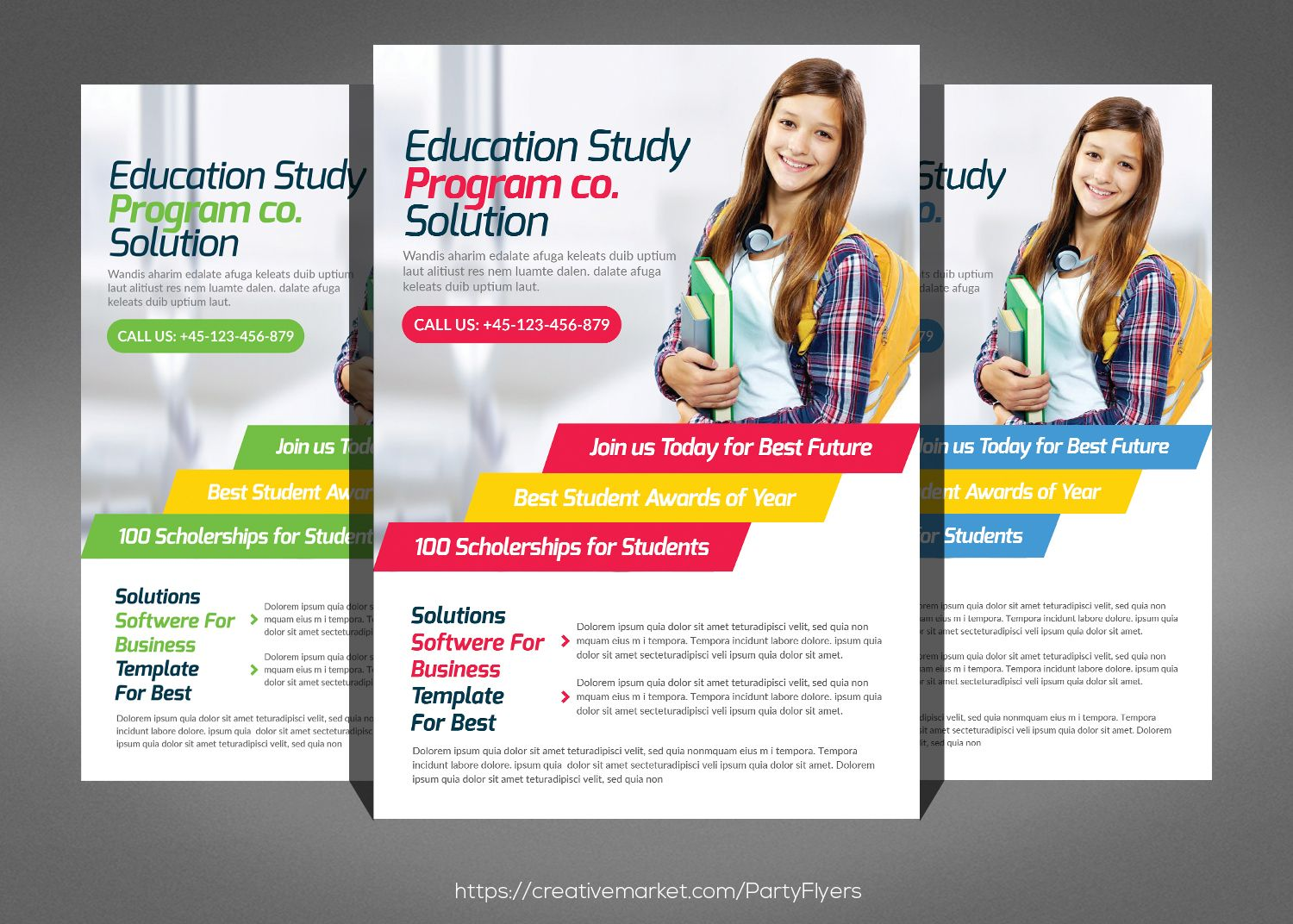 Kids School Education Flyer Template Schoolflyer Educationflyer