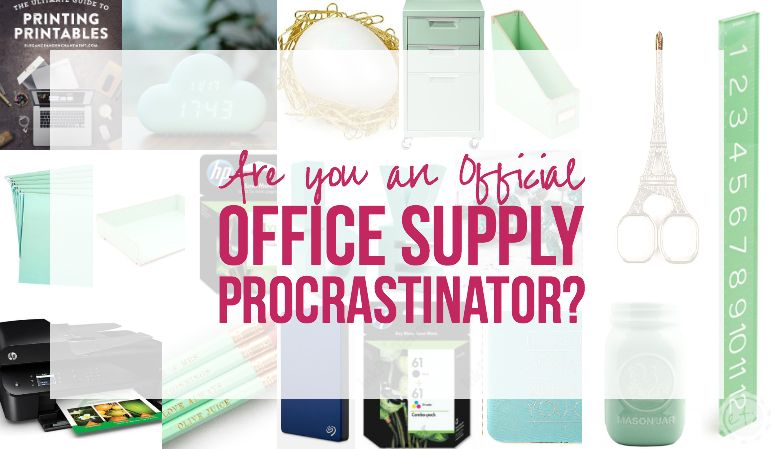 Printable Office Supply List Are You An Official Office Supply Procrastinator  Pinterest .