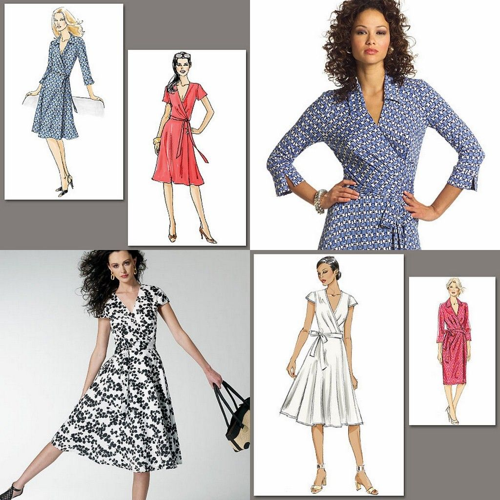 Lovely Very Easy Vogue Wrap Dresses Sewing Pattern Misses Size ~ You ...