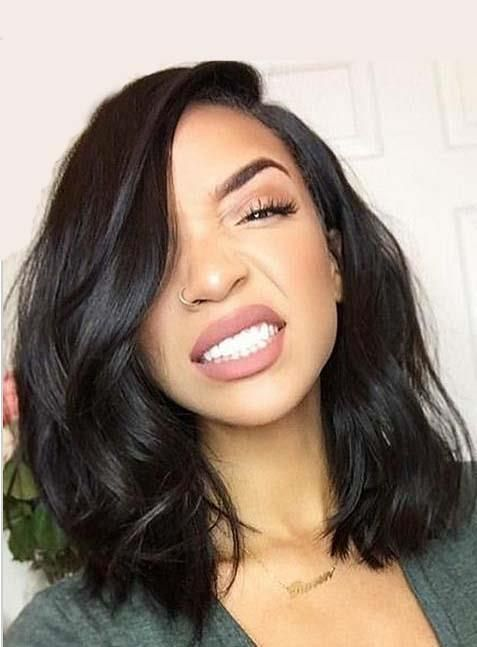 9987cbff3 Lace Front Bob Wig With Pre Plucked Hairline Straight | Hair wig ...