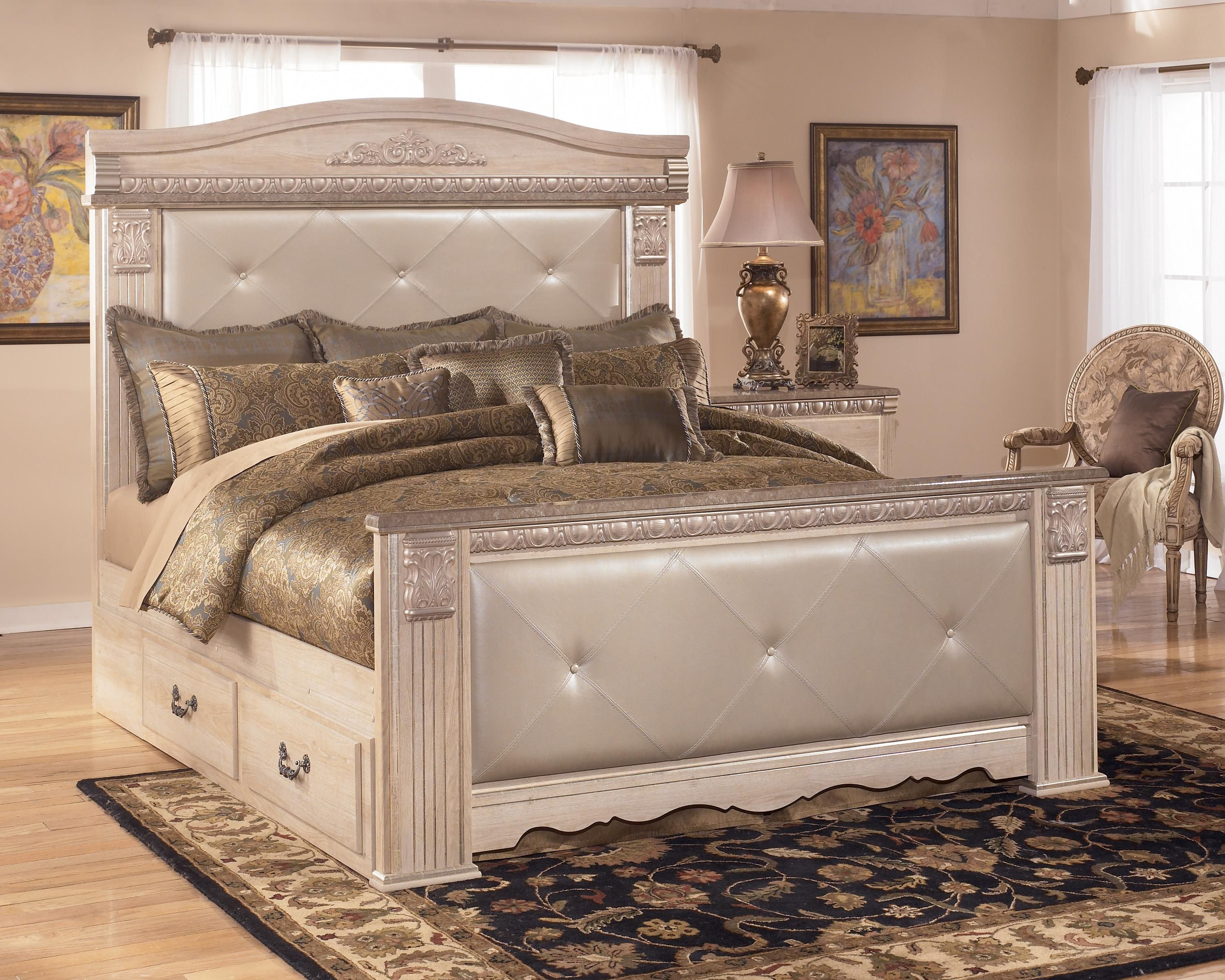 Silverglade King Upholstered Mansion Bed With Storage By Signature