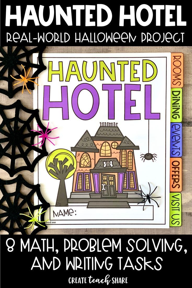 Haunted Hotel Halloween Tasks | Halloween Project #mathintherealworld