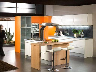 Decoración de cocinas en color naranja - Para Más Información